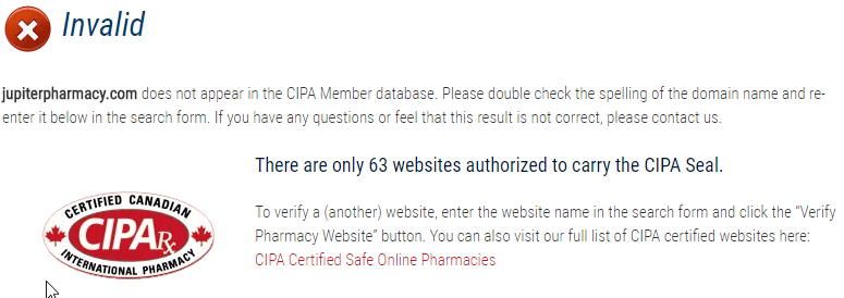 Jupiter Pharmacy CIPA