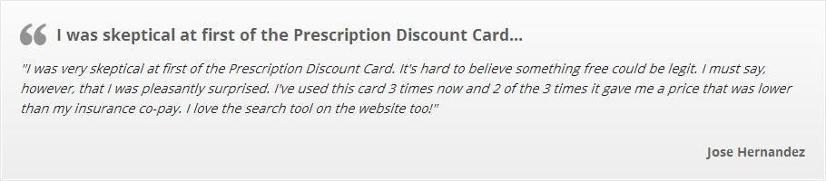 Prescription Discount Card Customer Review