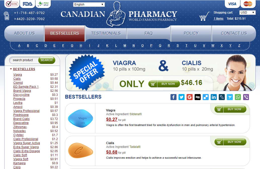 Online Pills, a Credible Canadian Pharmacy