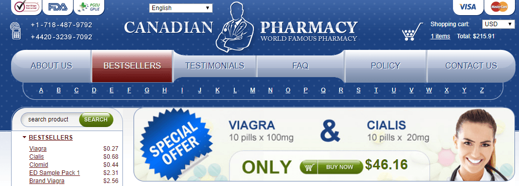Legitimate Canadian Pharmacy, Online Pills Shop